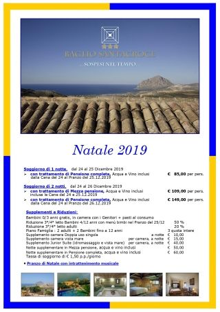 <em><strong>Natale 2019 - Soggiorni di 1 </strong>e<strong> 2 notti</strong></em> - 1